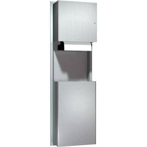 ASI 046924A Automatic Commercial Paper Towel Dispenser/Waste Receptacle, Recessed-Mounted, Stainless Steel - TotalRestroom.com