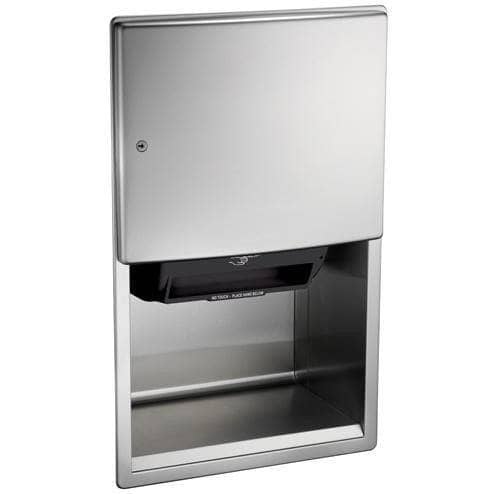 ASI 204523AC-6 Automatic Commercial Paper Towel Dispenser, Roval-Semi-Recessed-Mounted, Stainless Steel - TotalRestroom.com