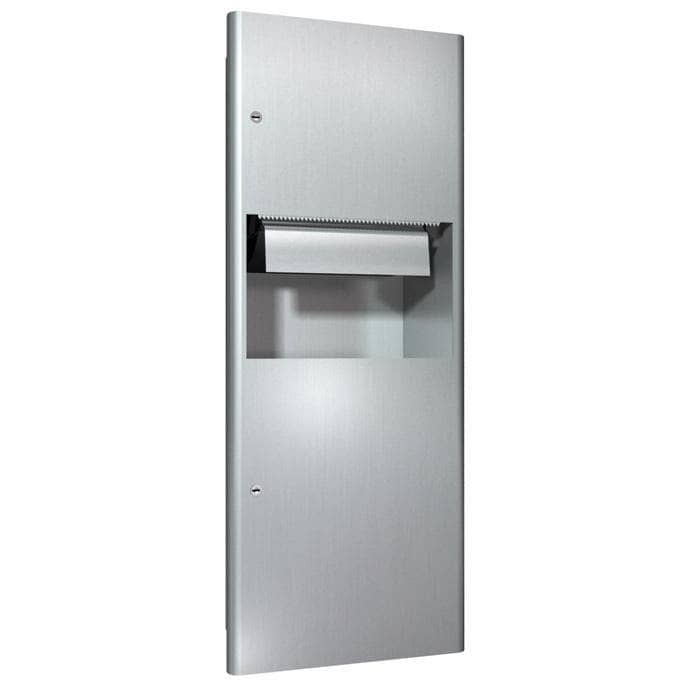 ASI 94696A Automatic Combination Commercial Paper Towel Dispenser/Waste Receptacle, Recessed-Mounted, Stainless Steel - TotalRestroom.com