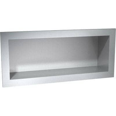 "ASI 0412 Commercial Bathroom Shelf, 16-1/2"" W x 6-1/2"" H x 4"" D, Recessed-Mounted, Stainless Steel - TotalRestroom.com"