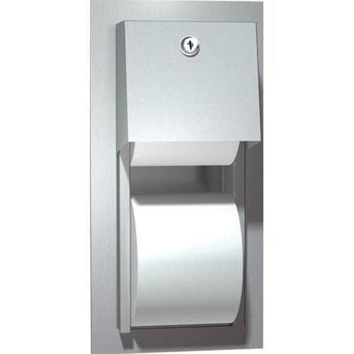 ASI 0031 Commercial Toilet Paper Dispenser, Recessed-Mounted, Stainless Steel w/ Satin Finish - TotalRestroom.com