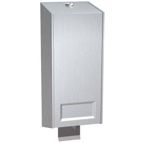 ASI 5001-SS Commercial Cartridge Soap Dispenser, Surface-Mounted, Manual-Push, Stainless Steel - TotalRestroom.com