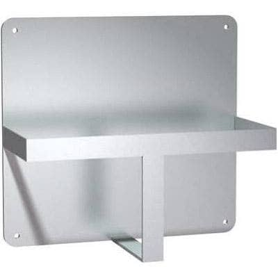 "ASI 0556 Commercial Bedpan Urinal Holder Rack, 12"" W x 27"" H x 6"" D, Surface-Mounted, Stainless Steel - TotalRestroom.com"