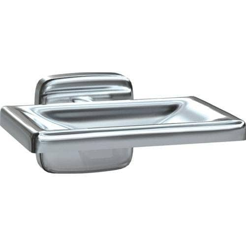 "ASI 7320-B Commercial Restroom Soap Dish, 4-1/4"" W x 3"" D, Stainless Steel w/ Bright-Polished Finish - TotalRestroom.com"