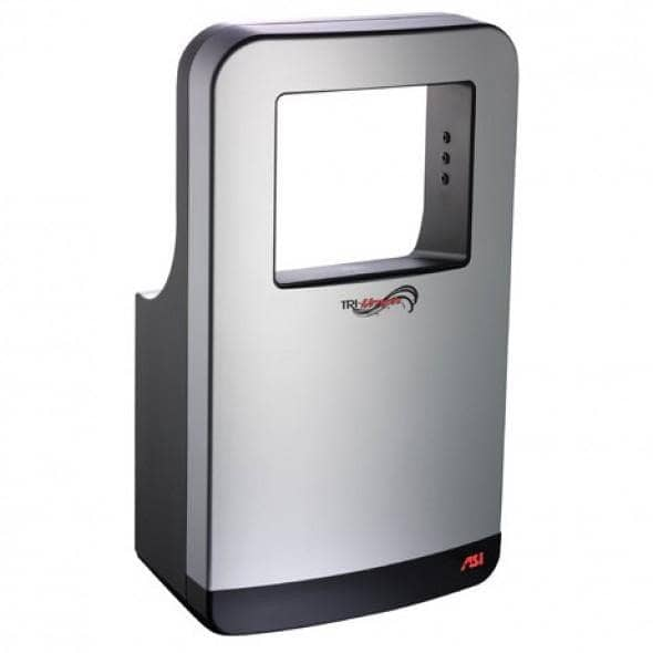 ASI 20200 Automatic Hand Dryer, 110-120/208-240/277 Volt, Surface-Mounted, Plastic - TotalRestroom.com