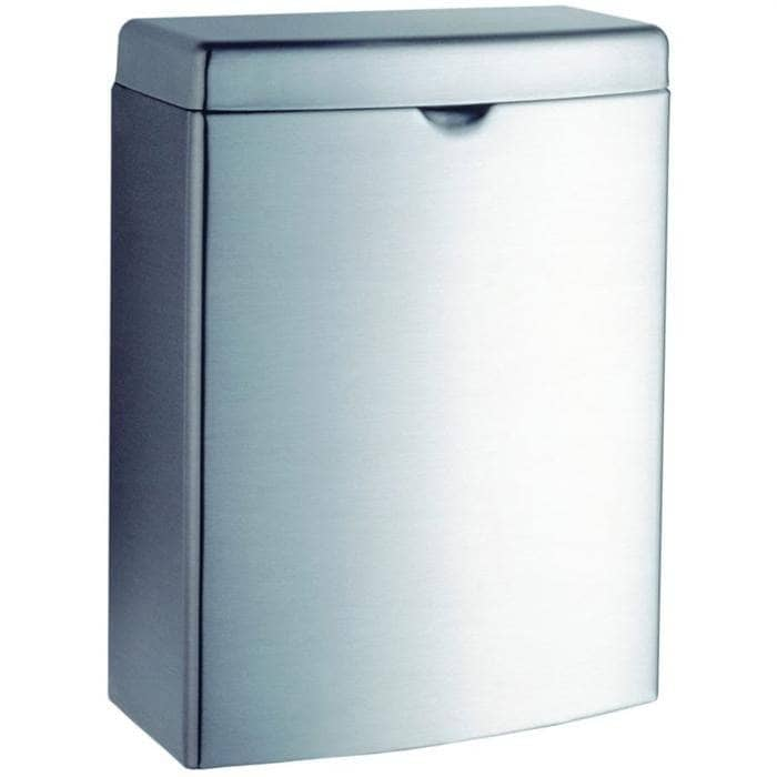 Bobrick B-270 Commercial Restroom Sanitary Napkin/Tampon Disposal, Surface-Mounted, Stainless Steel - TotalRestroom.com
