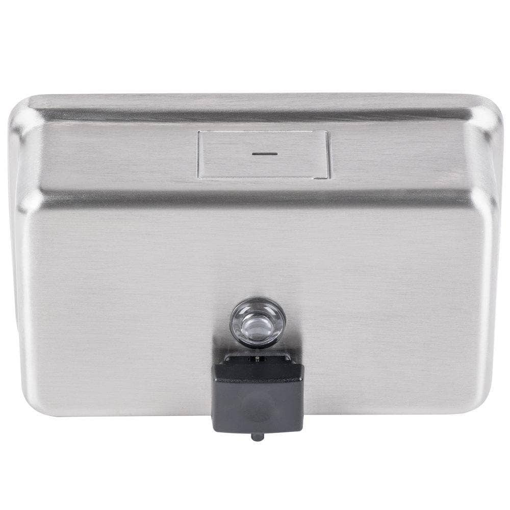 Bobrick B-2112 Commercial Liquid Soap Dispenser, Surface-Mounted, Manual-Push, Stainless Steel - 40 Oz - TotalRestroom.com