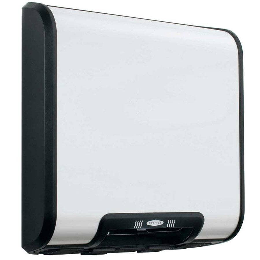 Bobrick B-7128 Automatic Hand Dryer, 115 Volt, Surface-Mounted, Stainless Steel - TotalRestroom.com