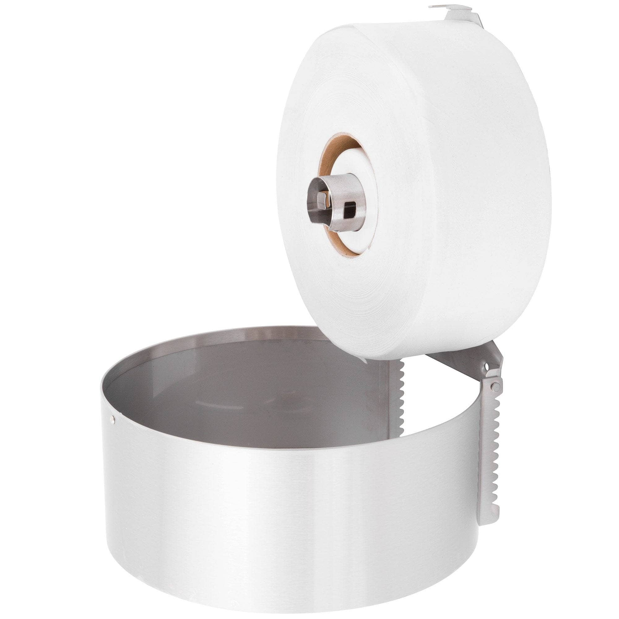 Bobrick B-2890 Commercial Toilet Paper Dispenser, Surface-Mounted, Stainless Steel w/ Satin Finish - TotalRestroom.com