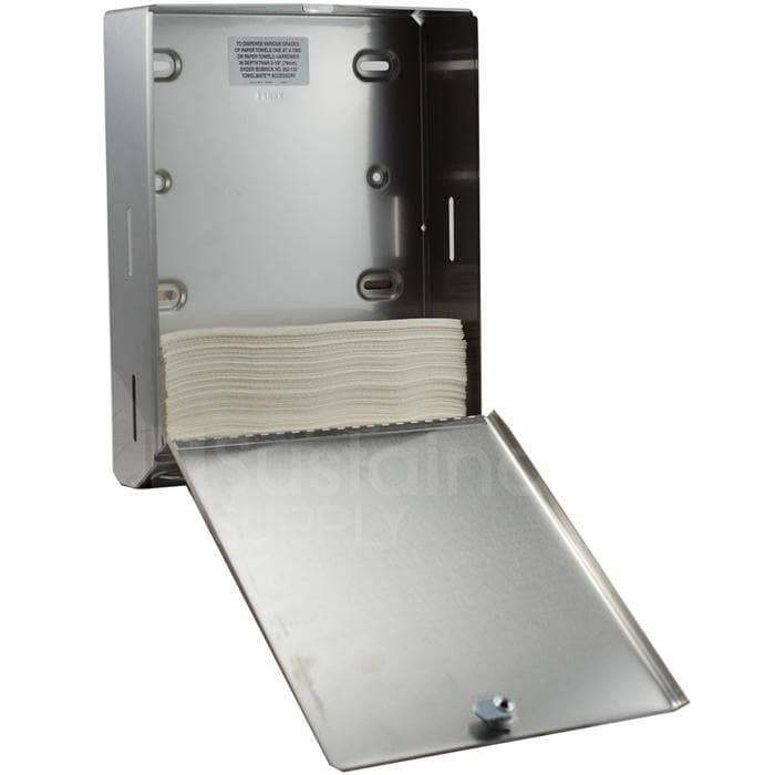 Bobrick B-2620 Commercial Paper Towel Dispenser, Surface-Mounted, Stainless Steel - TotalRestroom.com