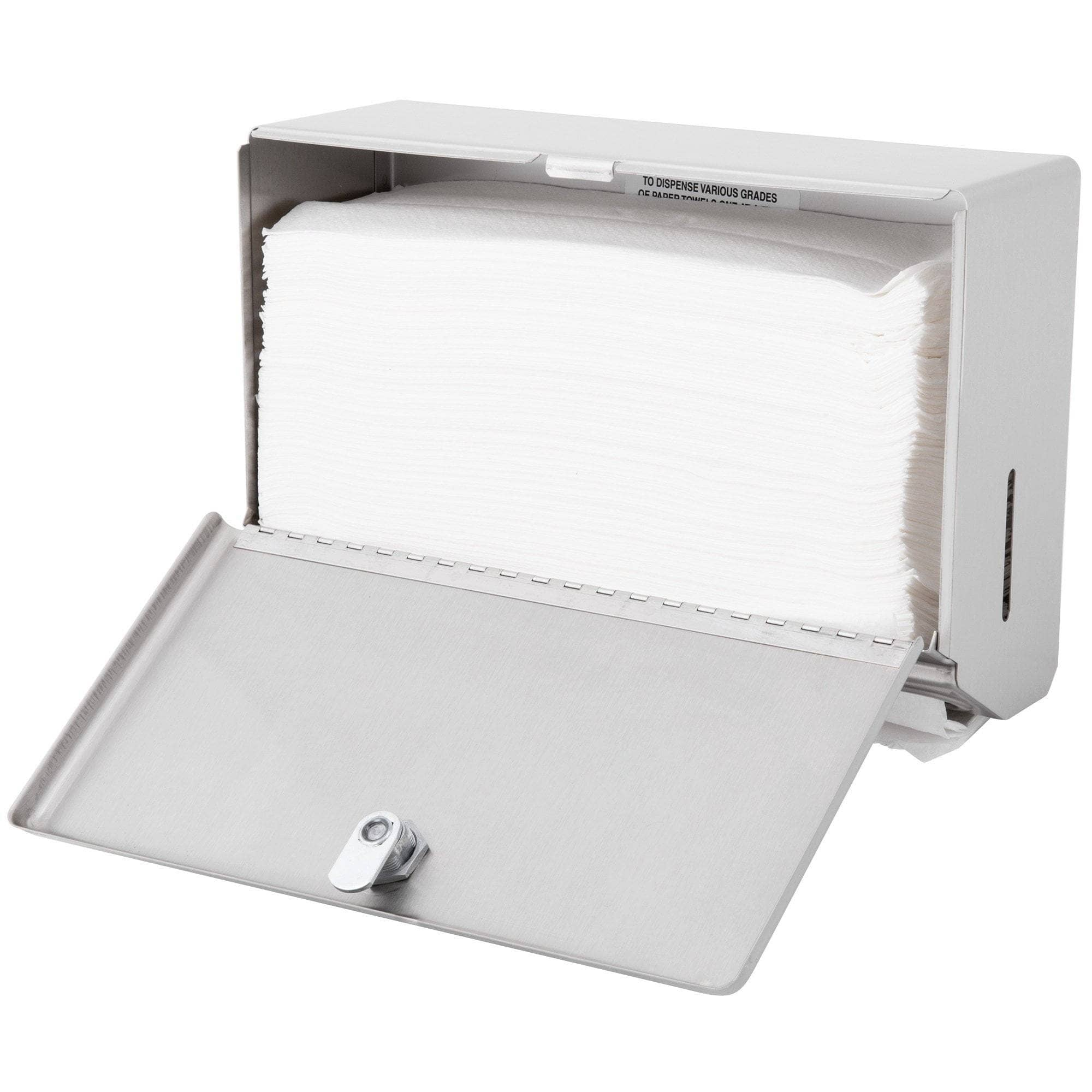 Bobrick B-2621 Commercial Paper Towel Dispenser, Surface-Mounted, Stainless Steel - TotalRestroom.com