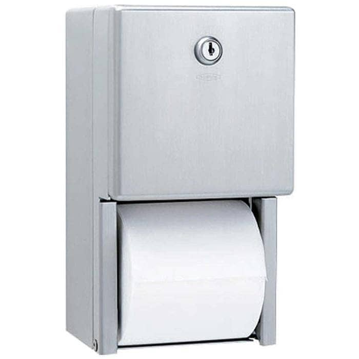 Bobrick B-2888 Commercial Toilet Paper Dispenser, Surface-Mounted, Stainless Steel w/ Satin Finish - TotalRestroom.com