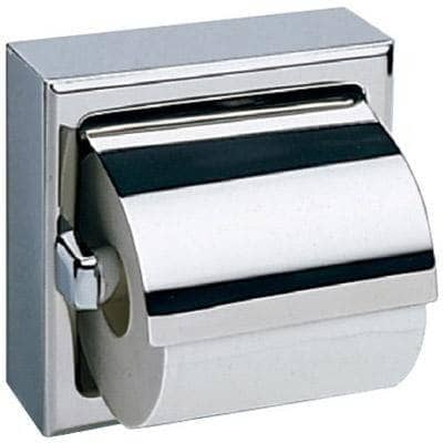 Bobrick B-66997 Commercial Toilet Paper Dispenser w/ Hood, Surface-Mounted, Stainless Steel w/ Satin Finish - TotalRestroom.com