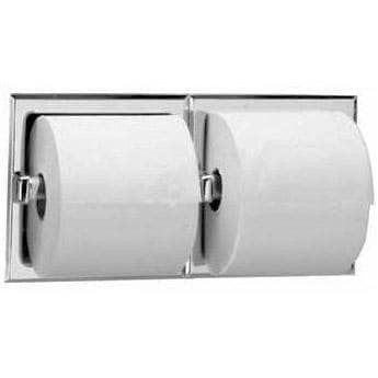 Bobrick B-6977 Commercial Toilet Tissue Dispenser, Recessed-Mounted, Stainless Steel w/ Satin Finish