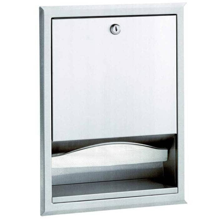 Bobrick B-359 Commercial Paper Towel Dispenser, Recessed-Mounted, Stainless Steel - TotalRestroom.com