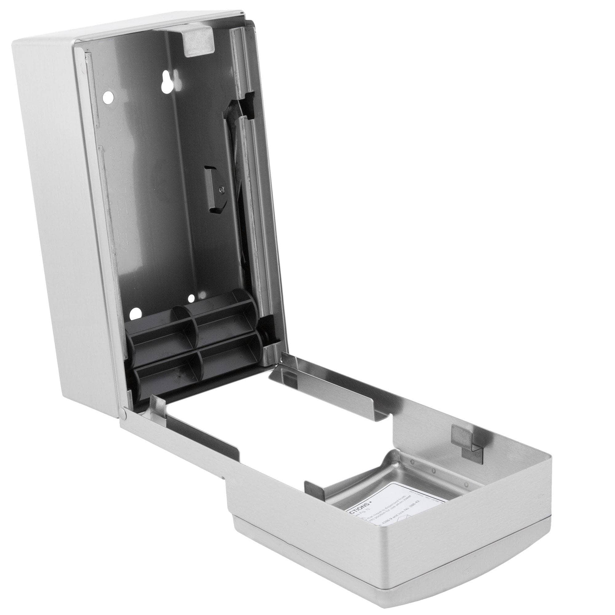 Bobrick B-4288 Commercial Toilet Paper Dispenser, Surface-Mounted, Stainless Steel w/ Satin Finish - TotalRestroom.com