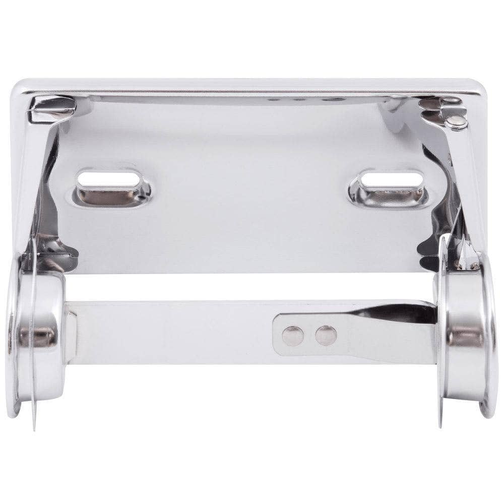 Bobrick B-264 Commercial Toilet Paper Dispenser, Surface-Mounted, Stainless Steel w/ Bright-Polished Finish - TotalRestroom.com