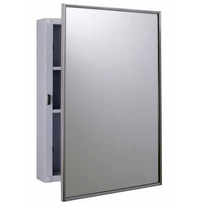 Bobrick B-297 Commercial Medicine Cabinet, Surface-Mounted, Steel - [product_type] - Bobrick