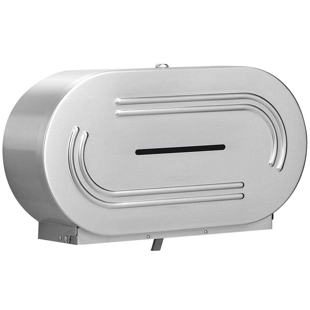 Bradley 5425-00 Commercial Jumbo-Roll Toilet Paper Dispenser, Surface-Mounted, Stainless Steel w/ Satin Finish - TotalRestroom.com