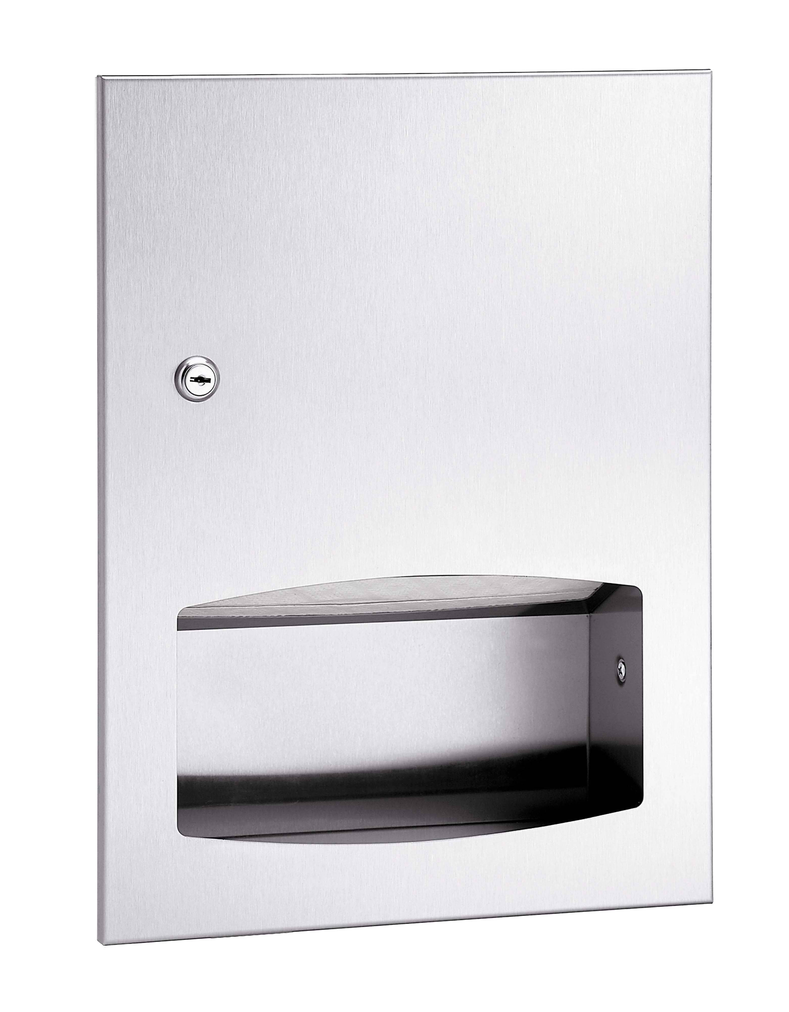 Bradley 2442-00 Commercial BX-Paper Towel Dispenser, Surface-Mounted, Stainless Steel - TotalRestroom.com