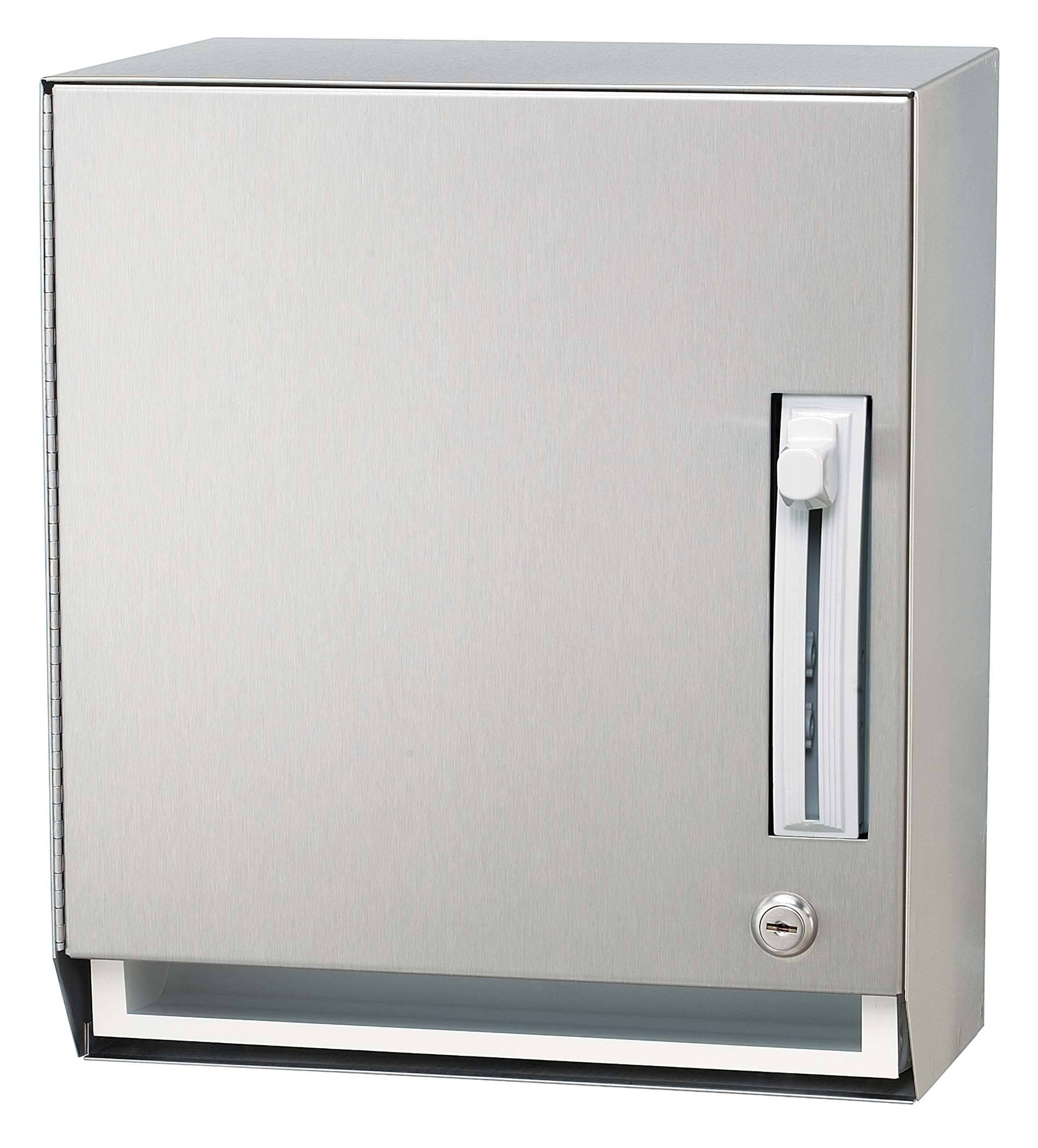 Bradley 2483-00 Commercial BX-Paper Towel Dispenser, Surface-Mounted, Stainless Steel - TotalRestroom.com