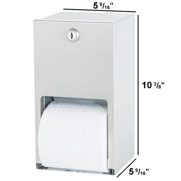 Bradley 5402-00 Commercial Toilet Paper Dispenser, Surface-Mounted, Stainless Steel w/ Satin Finish - TotalRestroom.com