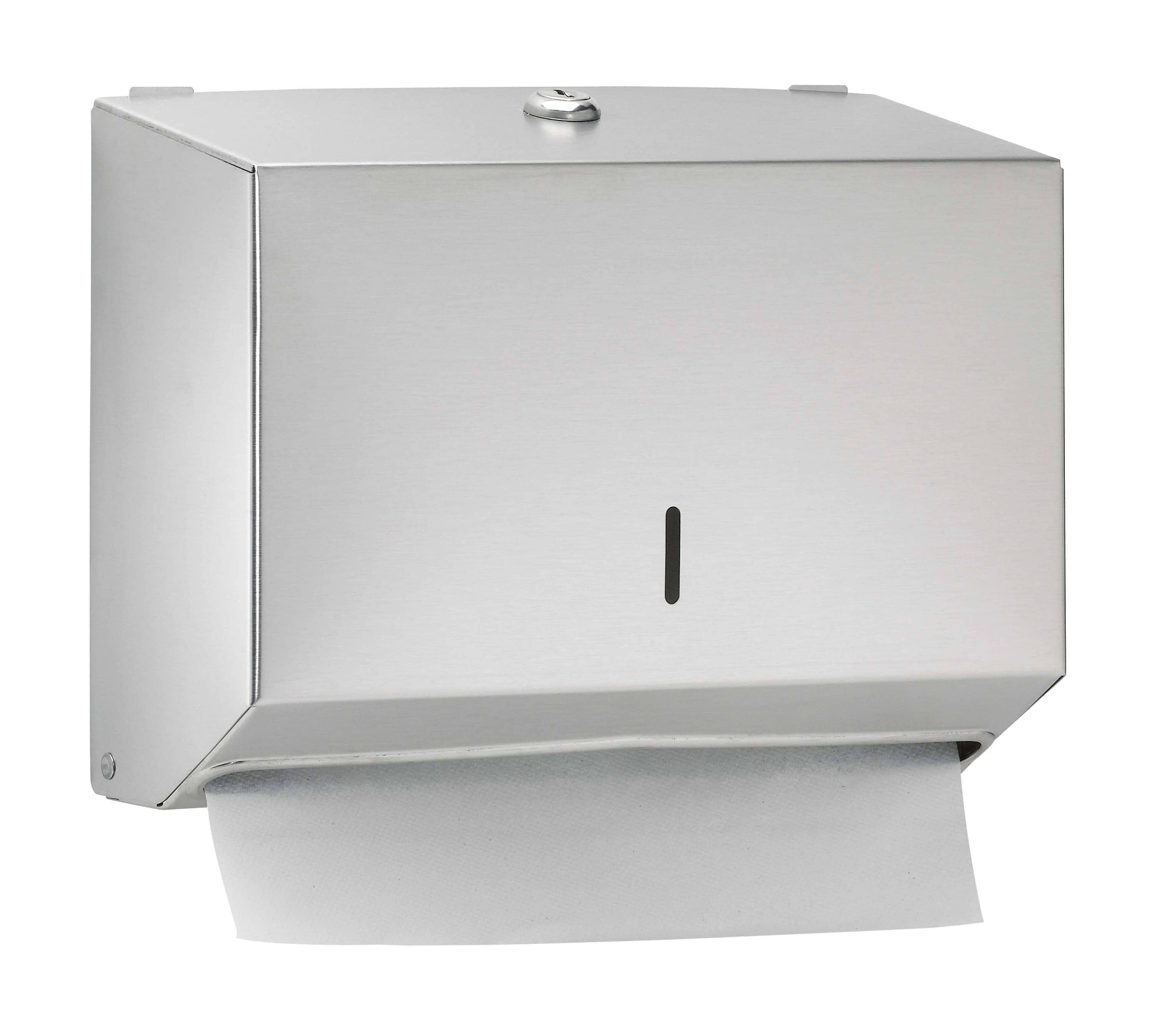 Bradley 252-00 Commercial BX-Paper Towel Dispenser, Wall Mounted, Stainless Steel - TotalRestroom.com