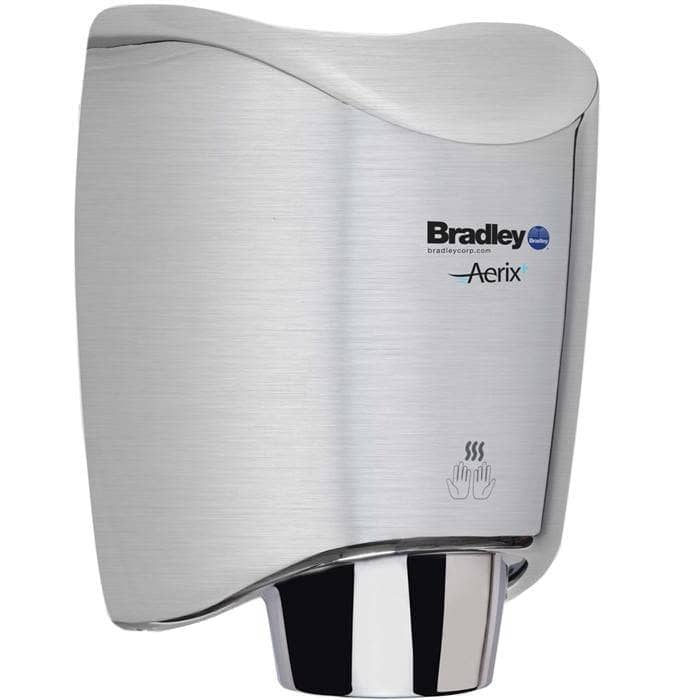 Bradley 2922-2874 Automatic High Efficiency Hand Dryer, 110-120 Volt, Surface-Mounted, Stainless Steel - TotalRestroom.com