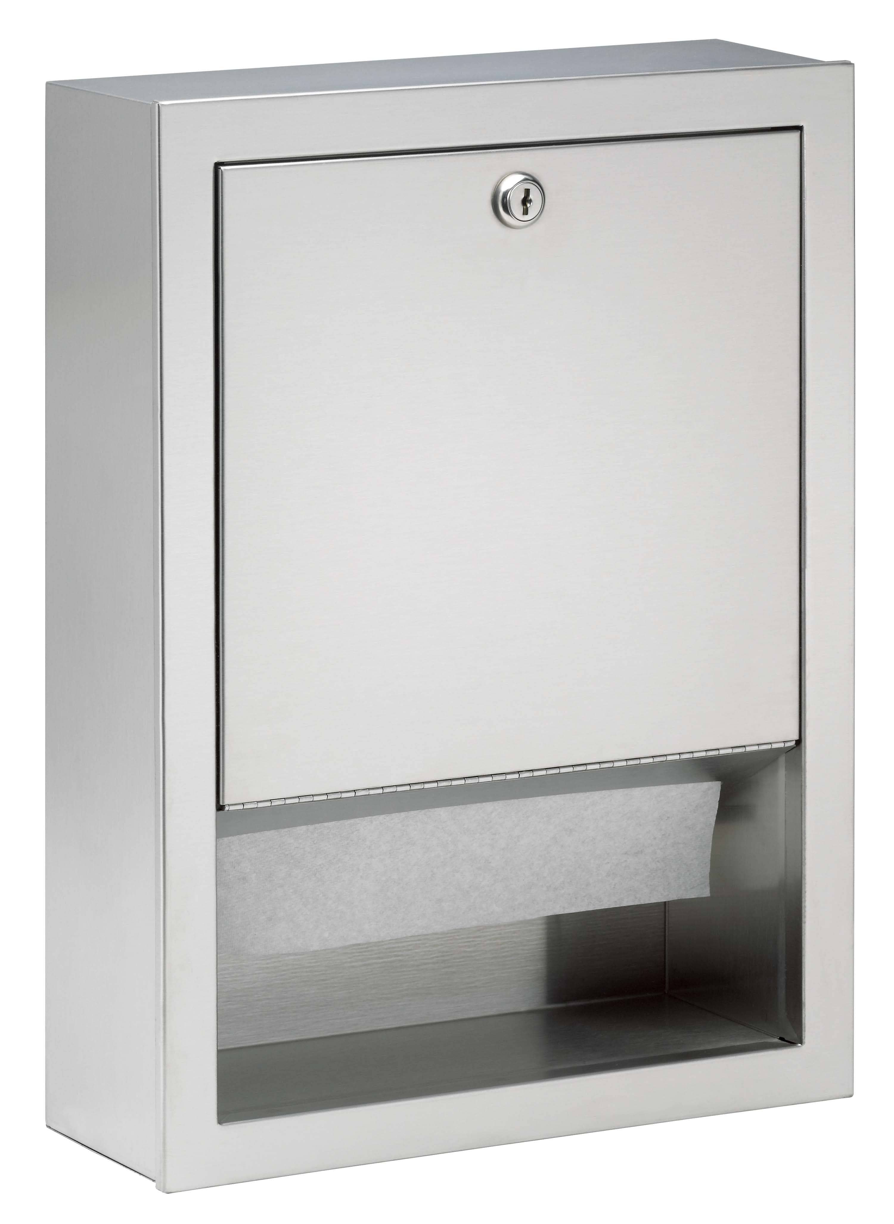 Bradley 2441-00 Commercial BX-Paper Towel Dispenser, Recessed-Mounted, Stainless Steel - TotalRestroom.com