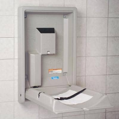 Koala Kare KB101-01 Vertical Baby Changing Station, Wall-Mounted, Grey - TotalRestroom.com