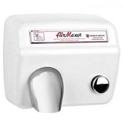 World Dryer Airmax DM5-974 Hand Dryer, Push Button, Steel Co - TotalRestroom.com