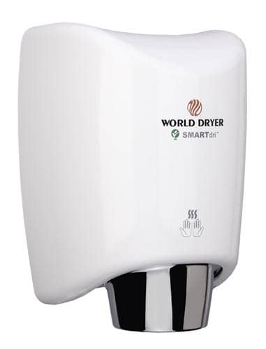 World Dryer SMARTdri(TM) K-974 Hand Dryer, White Aluminum, 1 - TotalRestroom.com