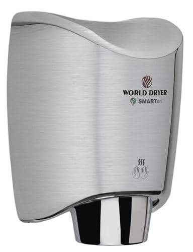 World Dryer SMARTdri(TM) K4-973 Hand Dryer, Brushed Stainles - TotalRestroom.com
