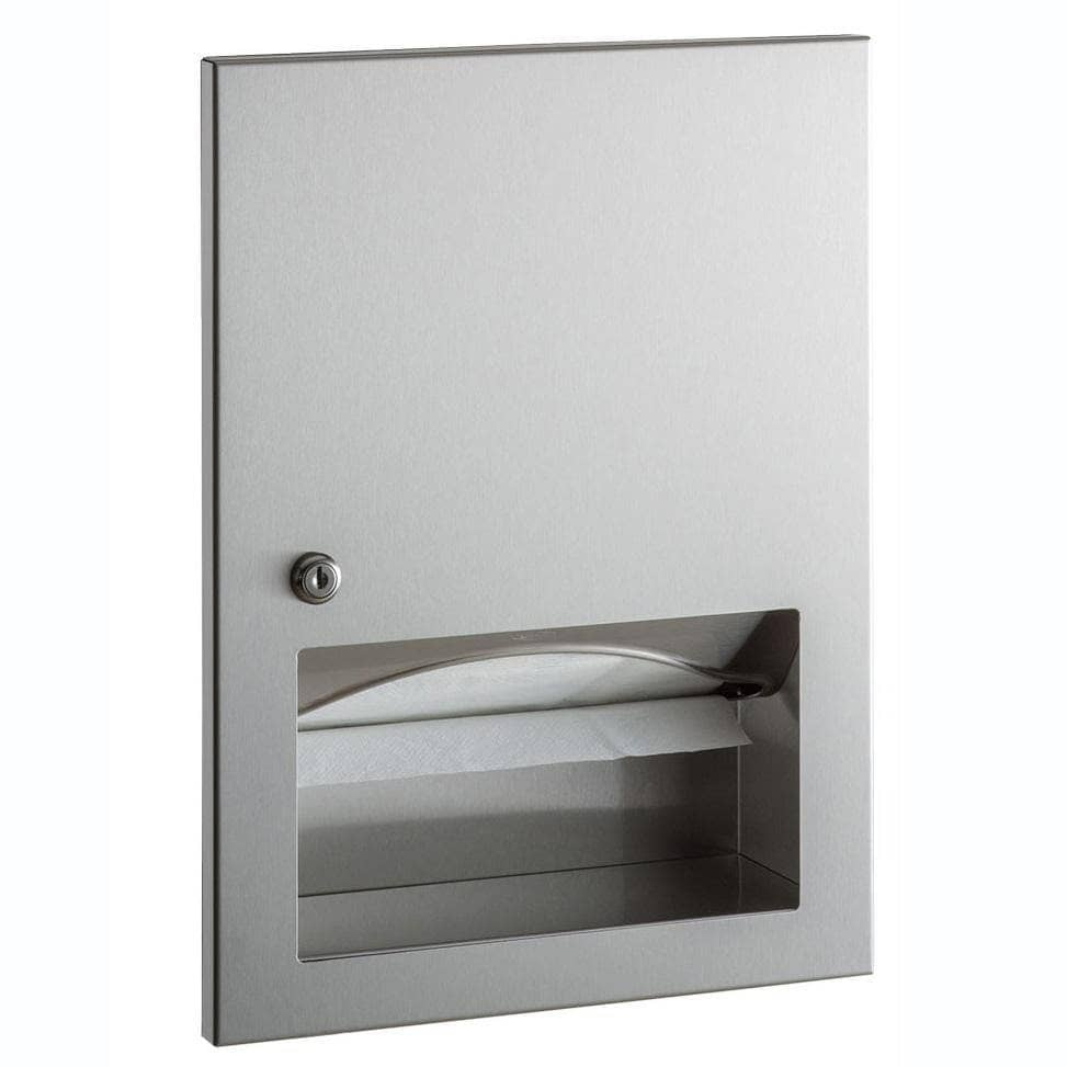 Bobrick B-359033 Commercial Paper Towel Dispenser, Recessed-Mounted, Stainless Steel - TotalRestroom.com