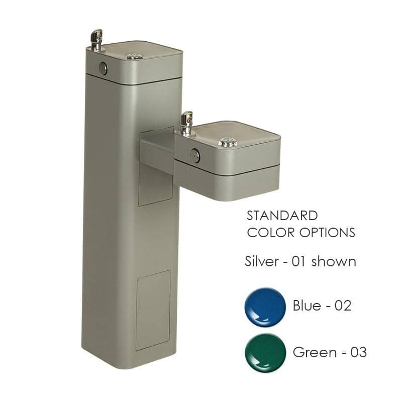 Haws 3602 Modular Outdoor Double Drinking Fountain - TotalRestroom.com