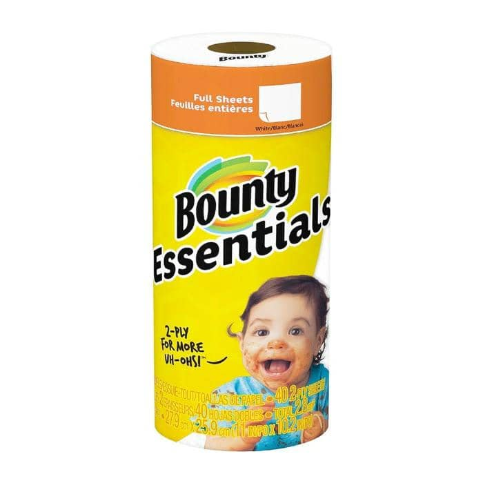 Bounty Essentials Paper Towels, Full Sized Sheets, 30 Rolls/Carton - PGC74657