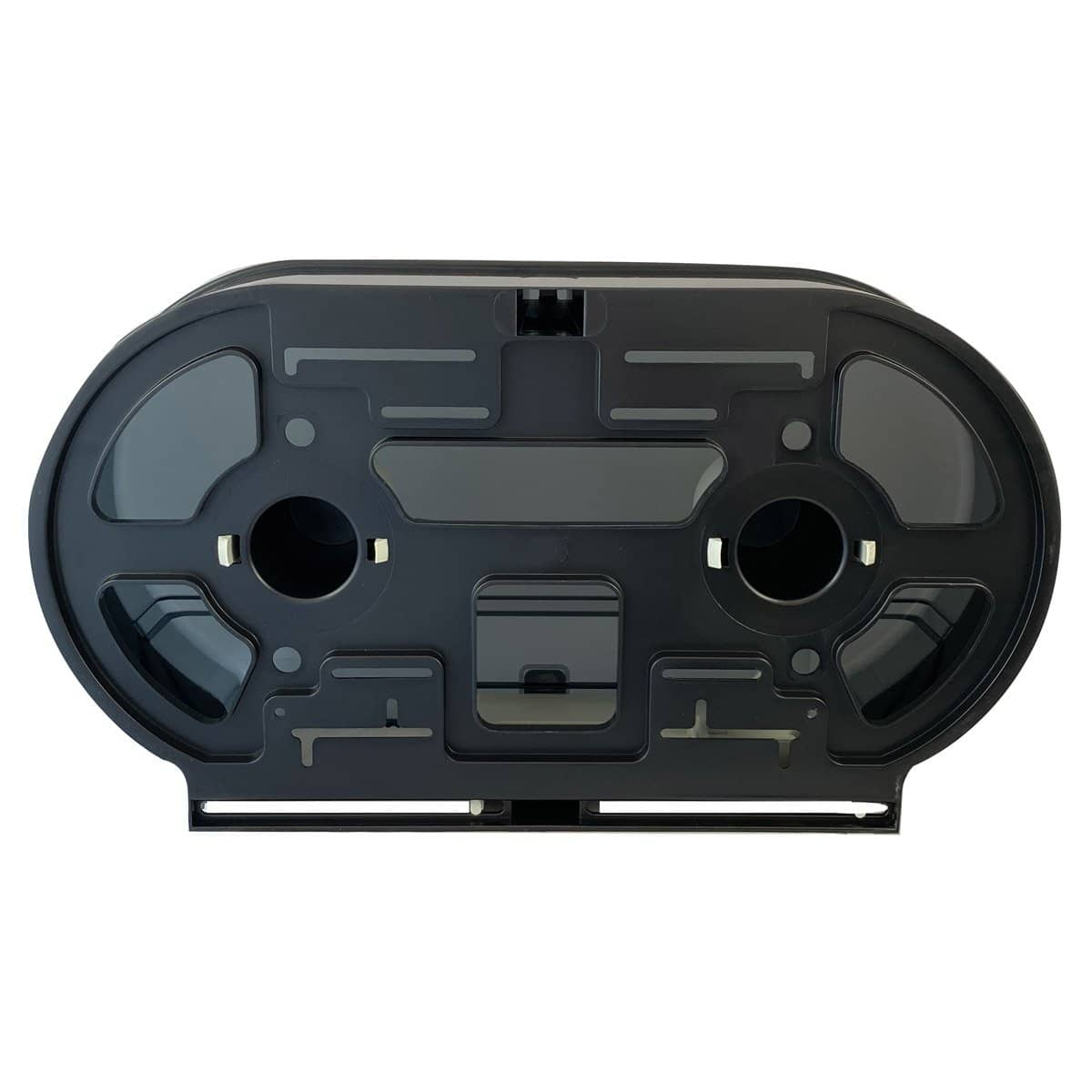 VISTA Double Jumbo TP Dispenser, Black Translucent - TP3002 - TotalRestroom.com