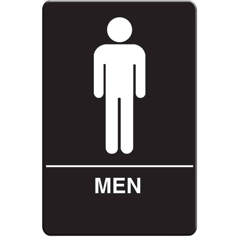 VISTA Men's Restroom Sign, Black - RS6001 - TotalRestroom.com