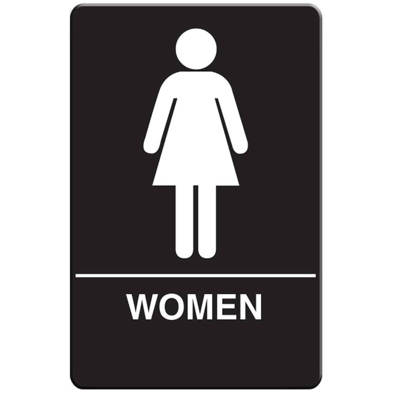 VISTA Women's Restroom Sign, Black - RS6002 - TotalRestroom.com