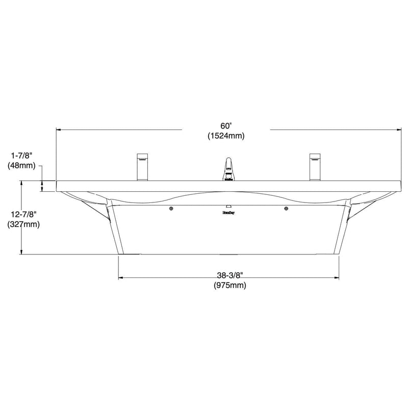 Bradley Verge Commercial Handwashing Sink - LVS-Series, Two-Station, LVSD2 - TotalRestroom.com
