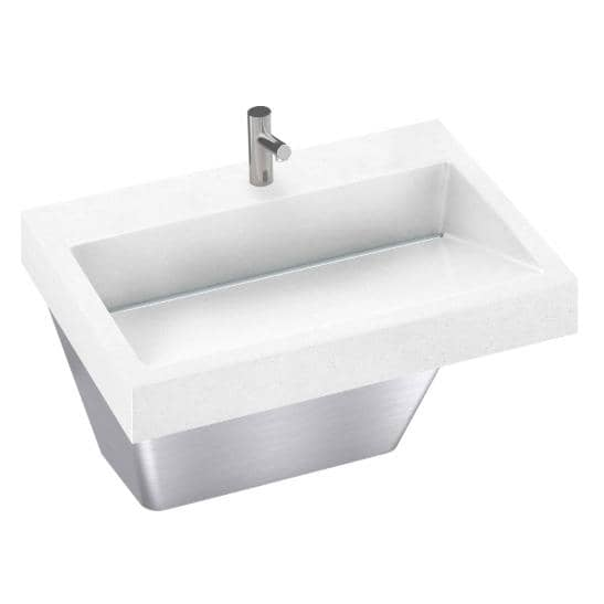Bradley Verge Commercial Hand Wash Sink - LVA-Series, One-Station, LVAD1 - TotalRestroom.com