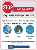 NMC STAY HOME WHEN YOU ARE SICK POSTER - PST142 - TotalRestroom.com