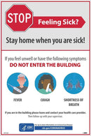 NMC STAY HOME WHEN YOU ARE SICK POSTER - PST142C - TotalRestroom.com