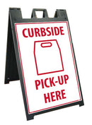 NMC DELUXE SIDEWALK STAND AND SIGN, CURBSIDE - SFS113C-KIT - TotalRestroom.com