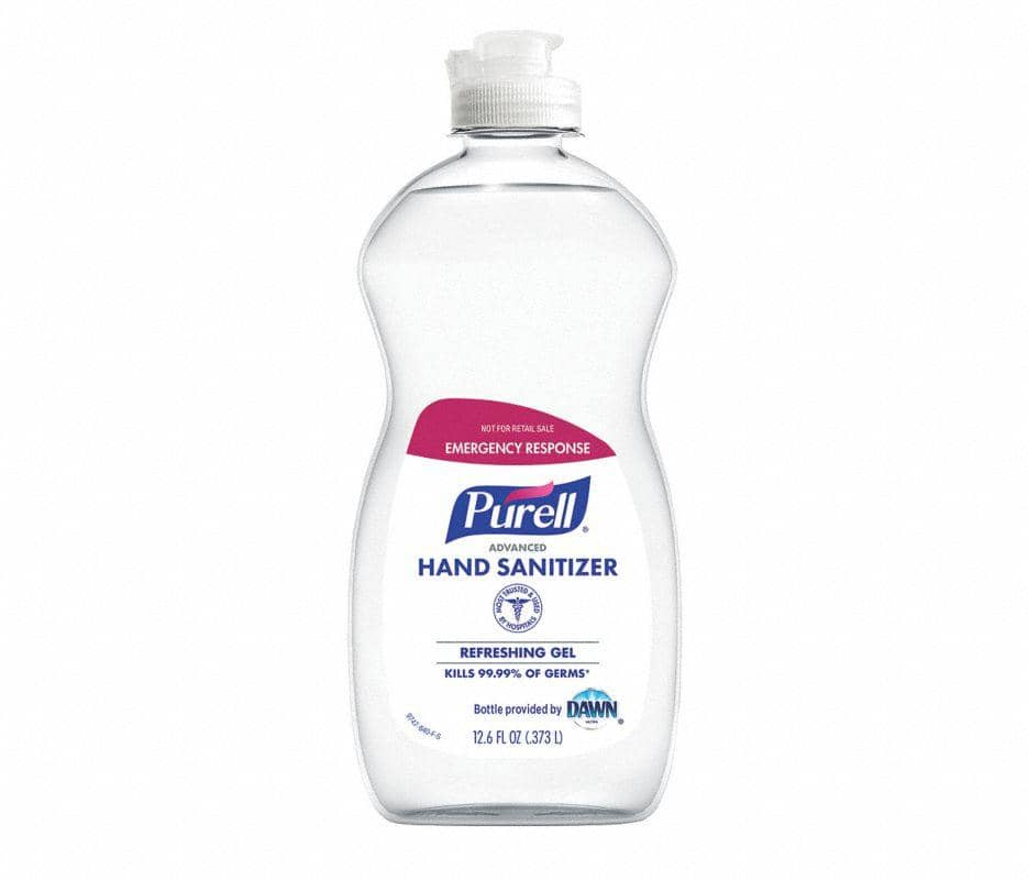 Purell Hand Sanitizer 12.6 oz Pour Bottle, 70% Ethyl Alcohol Gel, PK12 - 9747-12-S - TotalRestroom.com
