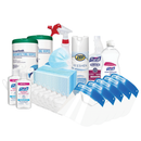 Family Protection Pack w/ Purell Hand Sanitizer, Zep Spray Disinfectant, KN95 Masks, Face Shields & More