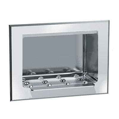 ASI 0401, Heavy-Duty Soap Dish, Recessed Surface-Mounted, Stainless Steel - TotalRestroom.com