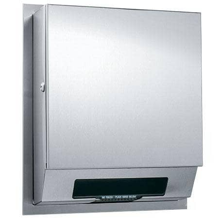 ASI 68523AC-4 Automatic Commercial Paper Towel Dispenser, Semi-Recessed-Mounted, Stainless Steel - TotalRestroom.com