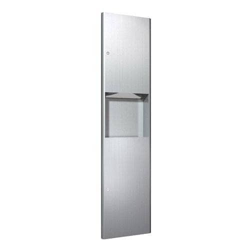 ASI 9467 Commercial Paper Towel Dispenser/Waste Receptacle, Recessed-Mounted, Stainless Steel - TotalRestroom.com