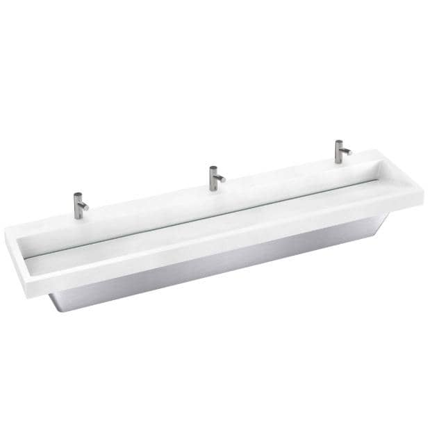 Bradley Verge Commercial Hand Wash Sink - LVA-Series, Three-Station, LVAD3